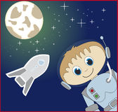 Cartoon astronaut Stock Photography