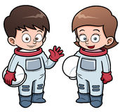 Cartoon astronaut kids vector illustration