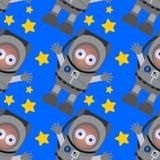 Cartoon astronaut seamless background design Stock Images