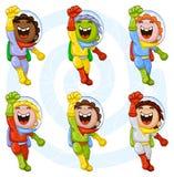 Cartoon astronauts Stock Photography