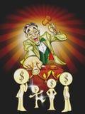 Cartoon Auctioneer Stock Photo