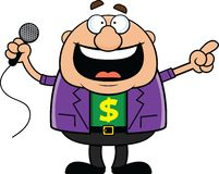 Cartoon Auctioneer Happy Stock Image