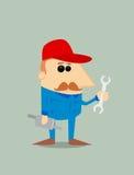 Cartoon auto mechanic Stock Images