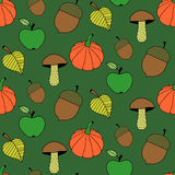Cartoon Autumn Colorful Seamless Pattern Royalty Free Stock Photo