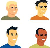 Cartoon Avatar Portrait SET 2. Dear Clipart Buyer, this is a set of Clipart Cartoon Avatar Portrait, from shoulders up. This illustration headshots feature man Stock Images