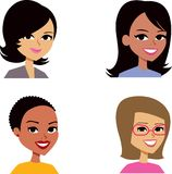 Cartoon Avatar Portrait SET 3 Royalty Free Stock Images