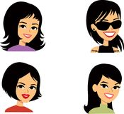 Cartoon Avatar Portrait SET 4 royalty free illustration