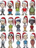 Cartoon avatar santa people Stock Photos