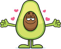 Cartoon Avocado Hug Stock Images