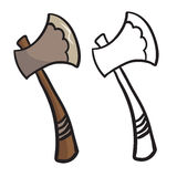 Cartoon axe Stock Photo