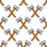 Cartoon Axe Seamless Pattern Stock Image