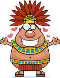 Cartoon Aztec King Hug Stock Photos
