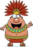 Cartoon Aztec King Idea Royalty Free Stock Photography