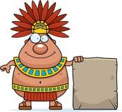 Cartoon Aztec King Sign Royalty Free Stock Photo