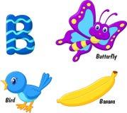 Cartoon B alphabet Stock Image