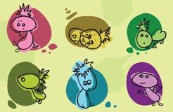 Cartoon babies set Stock Images