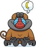Cartoon Baboon Dreaming Stock Image