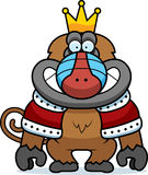 Cartoon Baboon King Stock Photo