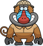 Cartoon Baboon Safari Stock Photography