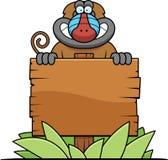 Cartoon Baboon Sign Royalty Free Stock Photo