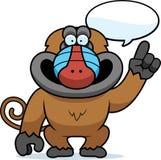 Cartoon Baboon Talking Stock Photo