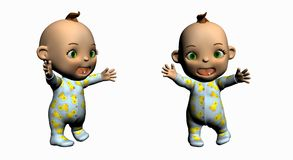 Cartoon baby Stock Photos