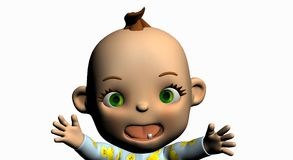 Cartoon baby Stock Photo