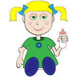 Cartoon Baby Stock Image