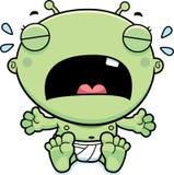 Cartoon Baby Alien Crying Stock Photography