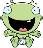 Cartoon Baby Alien Happy Royalty Free Stock Image