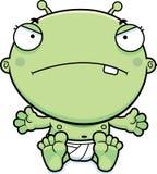 Cartoon Baby Alien Mad Royalty Free Stock Photography