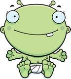 Cartoon Baby Alien Smiling Stock Images