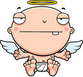 Cartoon Baby Angel Bored Royalty Free Stock Photos
