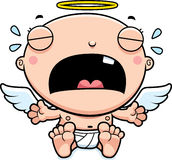 Cartoon Baby Angel Crying Royalty Free Stock Images