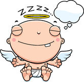 Cartoon Baby Angel Dreaming Stock Photos