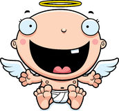 Cartoon Baby Angel Happy Stock Images