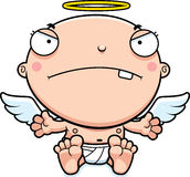 Cartoon Baby Angel Mad Stock Photos