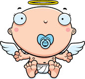 Cartoon Baby Angel Pacifier Royalty Free Stock Image