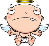 Cartoon Baby Angel Sad Royalty Free Stock Photos