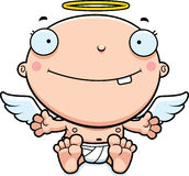 Cartoon Baby Angel Smiling Stock Photos