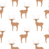 Cartoon Baby  animal flat seamless pattern. Cartoon Baby deer animal flat seamless pattern Royalty Free Stock Photos