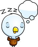 Cartoon Baby Bald Eagle Dreaming Stock Photo