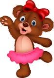 Cartoon baby bear dancing Stock Photos