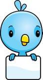 Cartoon Baby Blue Bird Sign Stock Images