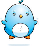Cartoon Baby Bluebird Fly Royalty Free Stock Photography