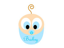 Cartoon baby boy Stock Images