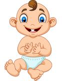 Cartoon baby boy clapping hand. Illustration of Cartoon baby boy clapping hand royalty free illustration