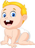 Cartoon baby boy crawling Stock Photo