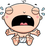 Cartoon Baby Boy Crying Royalty Free Stock Images