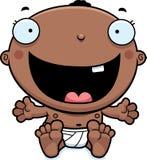 Cartoon Baby Boy Happy. A cartoon illustration of a baby boy looking happy stock illustration
